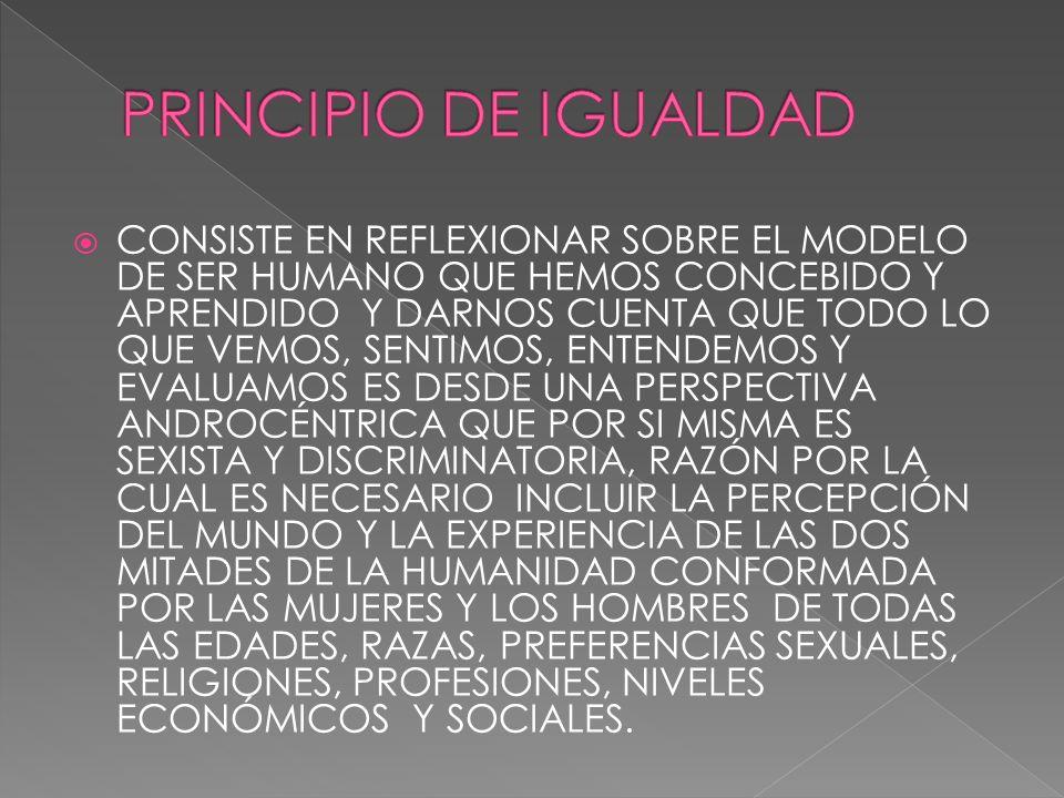 PRINCIPIO DE IGUALDAD