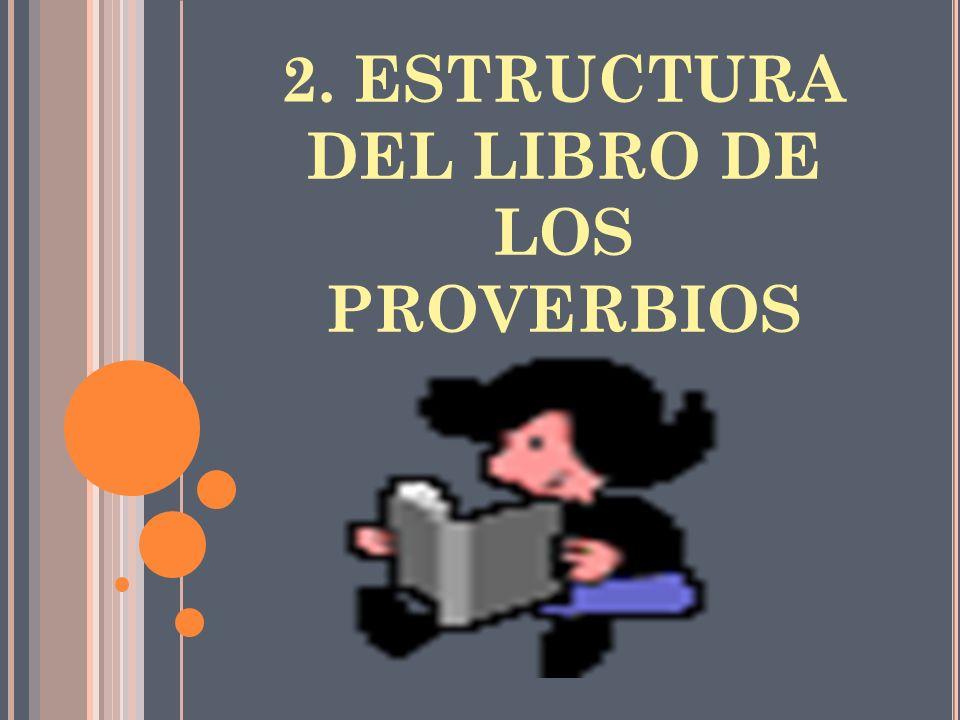 2. ESTRUCTURA DEL LIBRO DE LOS PROVERBIOS
