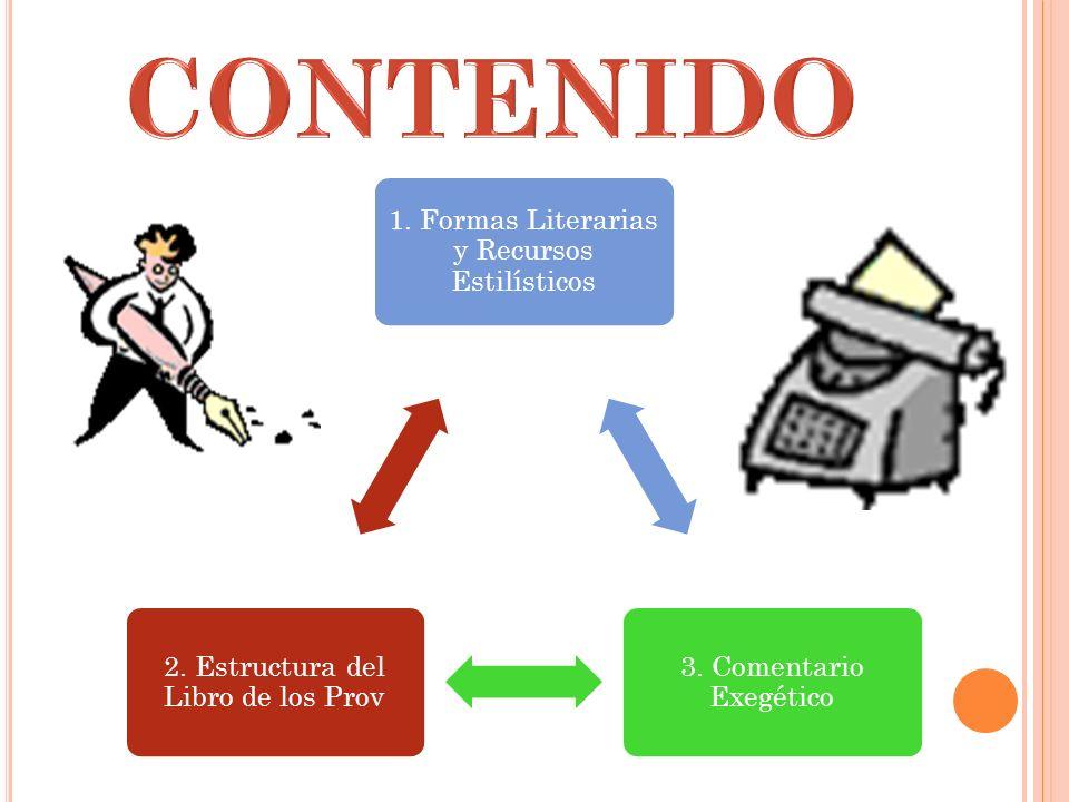 CONTENIDO 1. Formas Literarias y Recursos Estilísticos