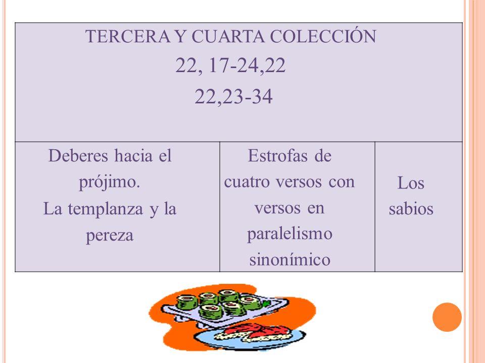 22, 17-24,22 22,23-34 TERCERA Y CUARTA COLECCIÓN