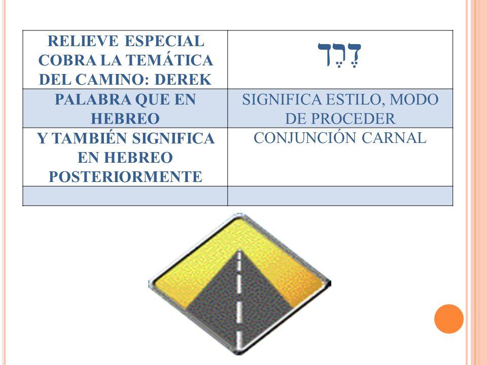 דֶרֶך RELIEVE ESPECIAL COBRA LA TEMÁTICA DEL CAMINO: DEREK