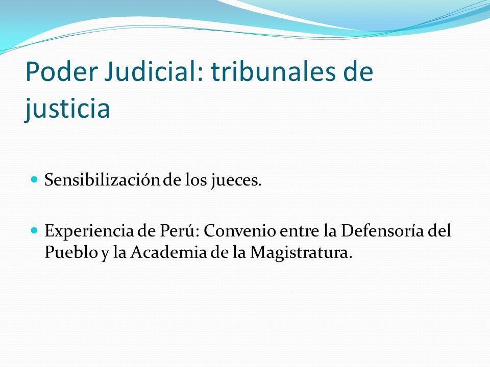 Poder Judicial: tribunales de justicia