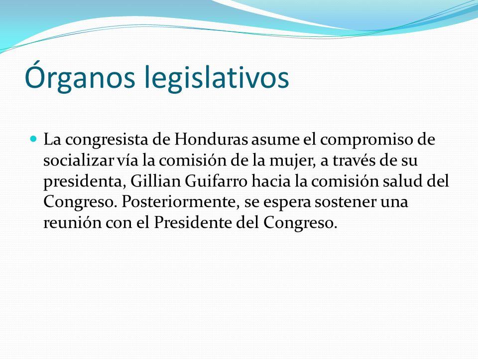 Órganos legislativos
