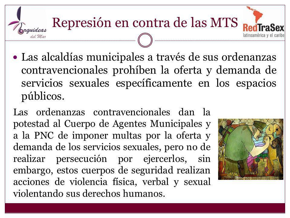 Represión en contra de las MTS
