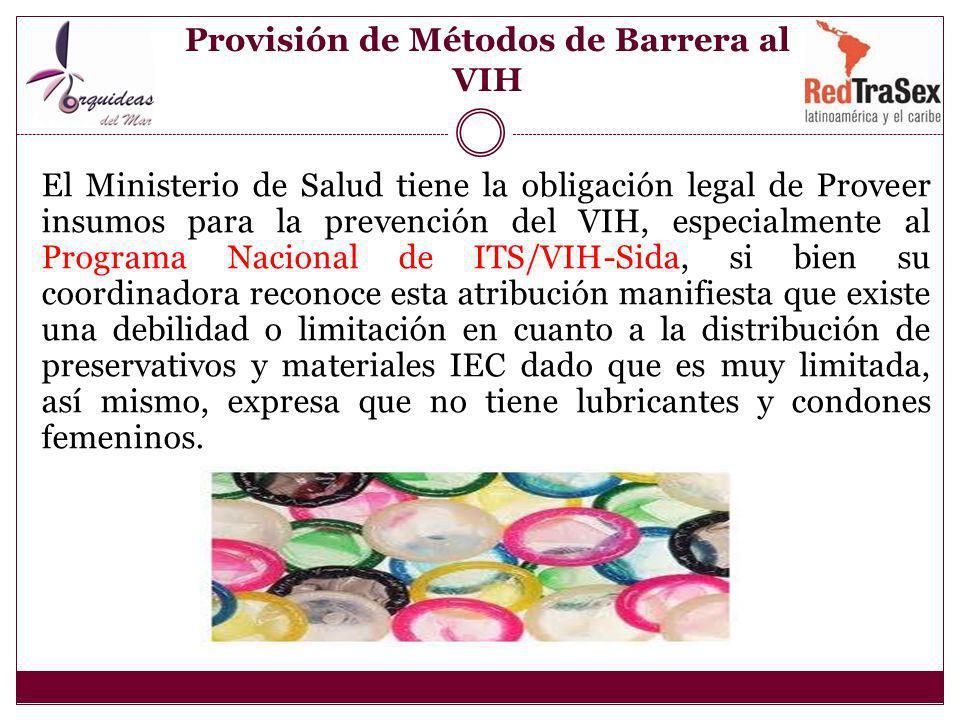 Provisión de Métodos de Barrera al VIH