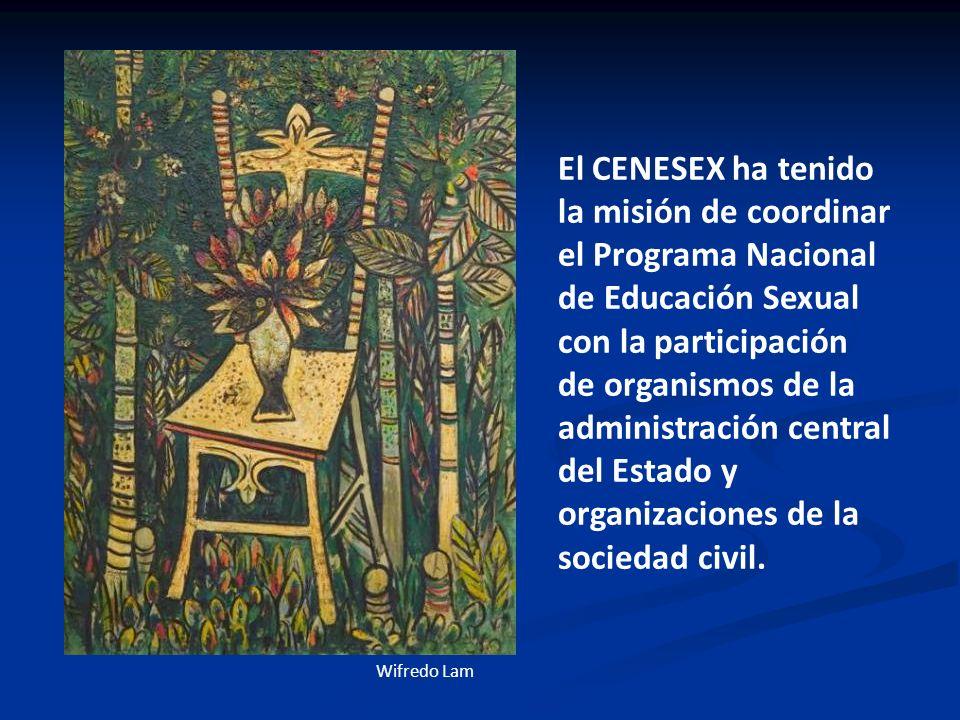 El CENESEX ha tenido la misión de coordinar el Programa Nacional de Educación Sexual con la participación de organismos de la administración central del Estado y organizaciones de la sociedad civil.