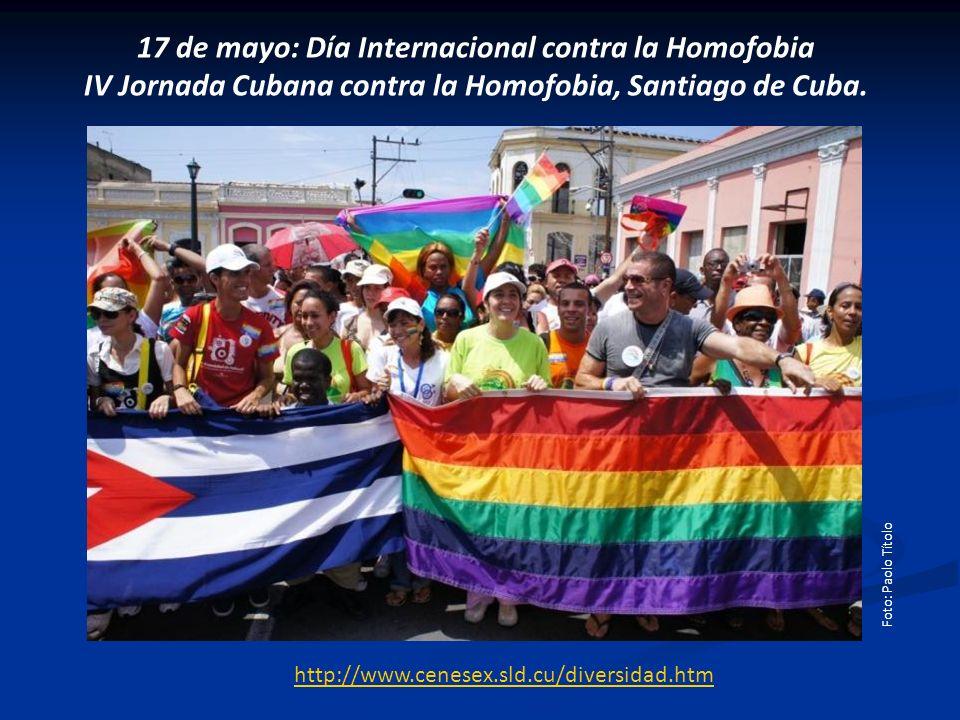 17 de mayo: Día Internacional contra la Homofobia