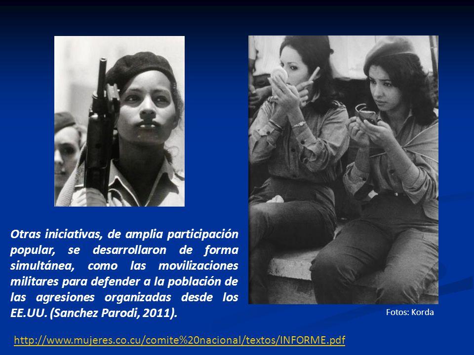 Otras iniciativas, de amplia participación popular, se desarrollaron de forma simultánea, como las movilizaciones militares para defender a la población de las agresiones organizadas desde los EE.UU. (Sanchez Parodi, 2011).