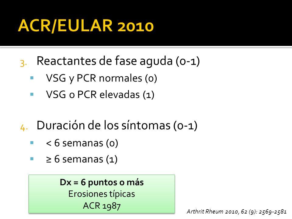 ACR/EULAR 2010 Reactantes de fase aguda (0-1)