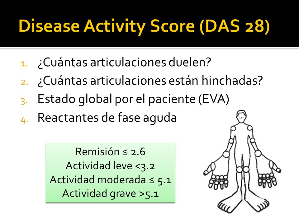 Disease Activity Score (DAS 28)