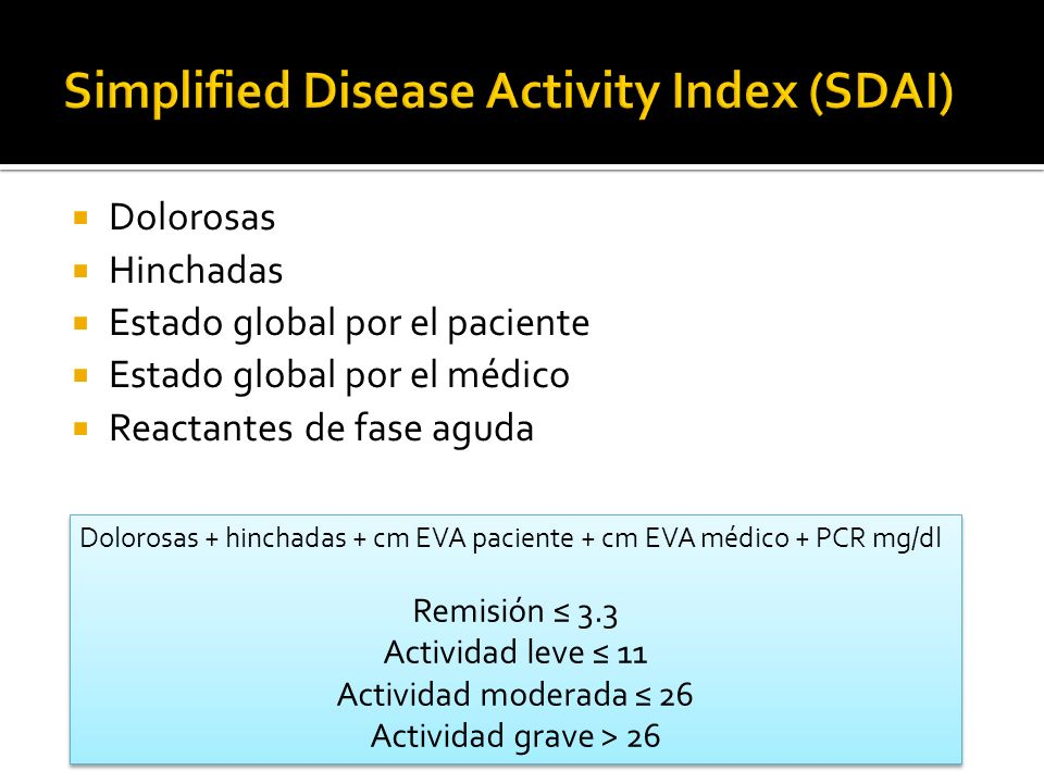 Simplified Disease Activity Index (SDAI)