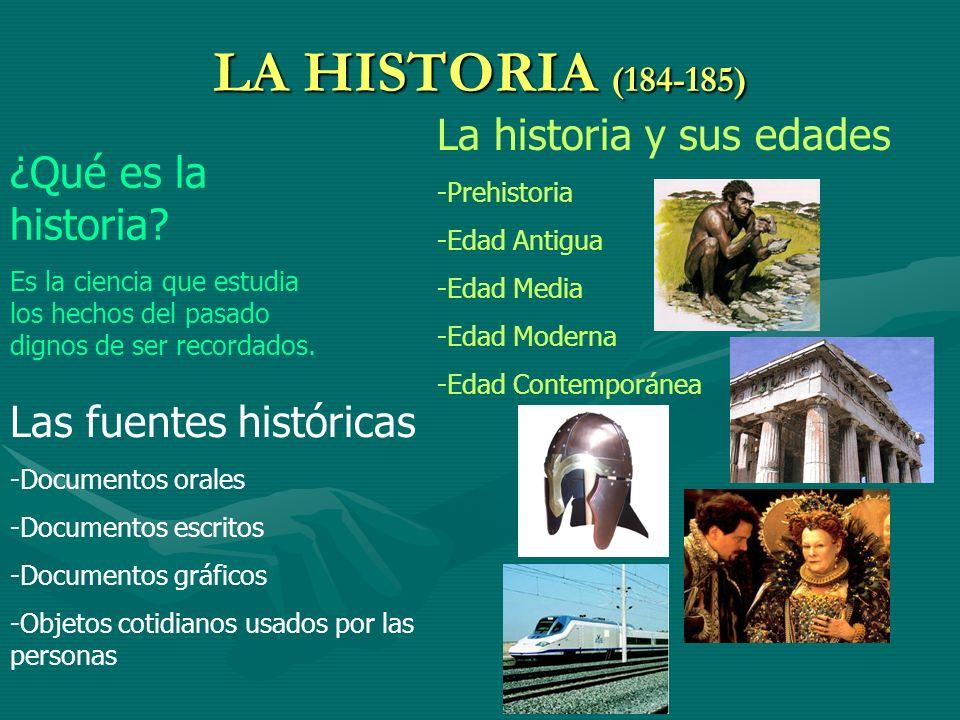 LA HISTORIA (184-185) La historia y sus edades ¿Qué es la historia