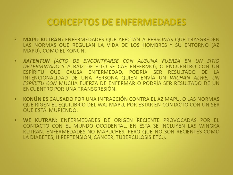 CONCEPTOS DE ENFERMEDADES