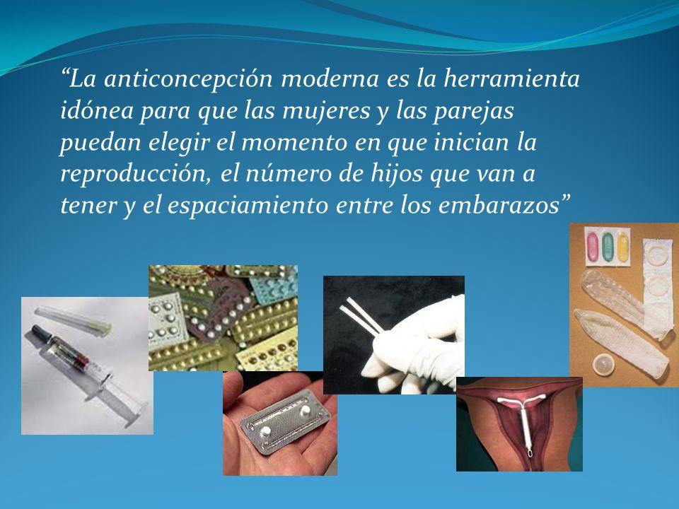 La anticoncepción moderna es la herramienta idónea para que las mujeres y las parejas puedan elegir el momento en que inician la reproducción, el número de hijos que van a tener y el espaciamiento entre los embarazos
