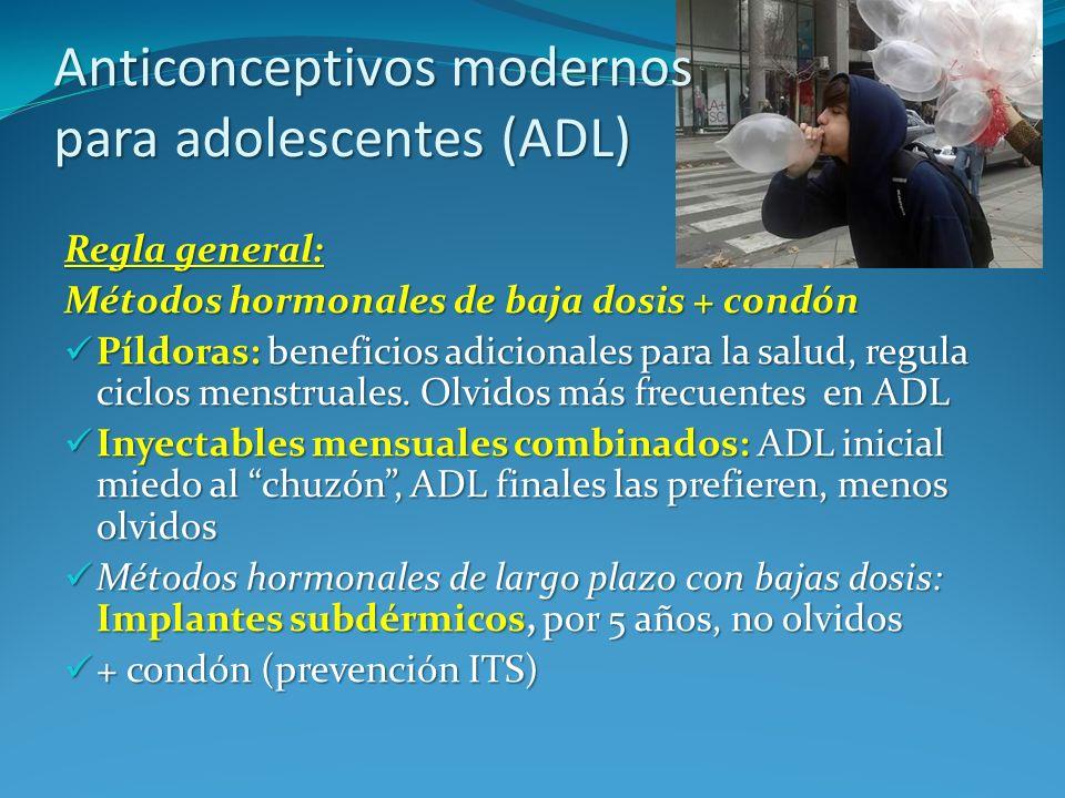 Anticonceptivos modernos para adolescentes (ADL)