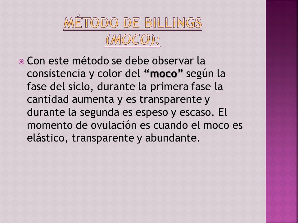 Método de Billings (Moco):