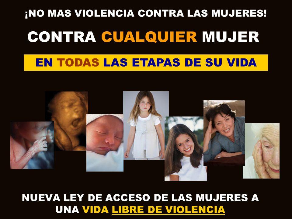 NUEVA LEY DE ACCESO DE LAS MUJERES A UNA VIDA LIBRE DE VIOLENCIA