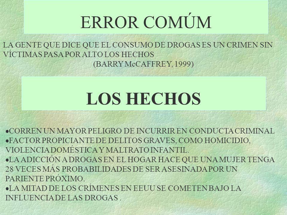 ERROR COMÚM LA GENTE QUE DICE QUE EL CONSUMO DE DROGAS ES UN CRIMEN SIN VÍCTIMAS PASA POR ALTO LOS HECHOS.