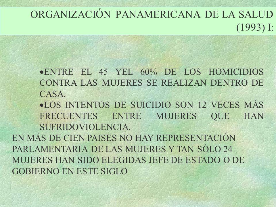 ORGANIZACIÓN PANAMERICANA DE LA SALUD (1993) I: