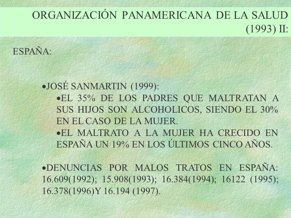 ORGANIZACIÓN PANAMERICANA DE LA SALUD (1993) II: