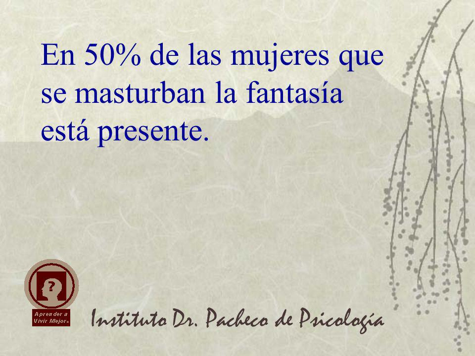 En 50% de las mujeres que se masturban la fantasía está presente.