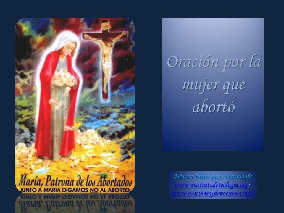 Oración por la mujer que abortó