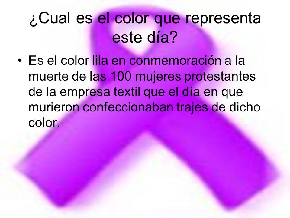 ¿Cual es el color que representa este día
