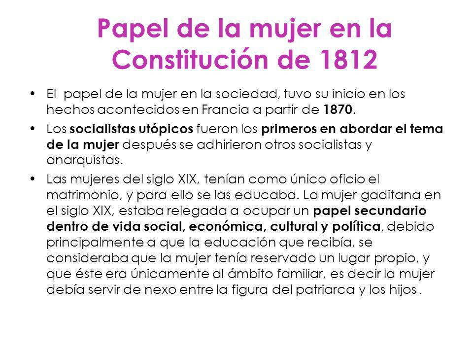 Papel de la mujer en la Constitución de 1812