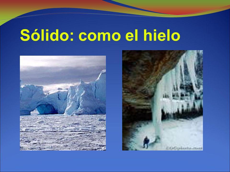 Sólido: como el hielo 13