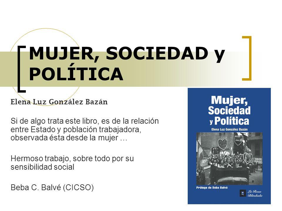 MUJER, SOCIEDAD y POLÍTICA