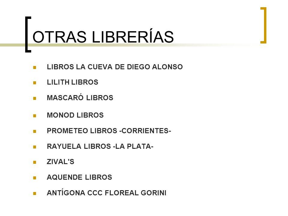 OTRAS LIBRERÍAS LIBROS LA CUEVA DE DIEGO ALONSO LILITH LIBROS