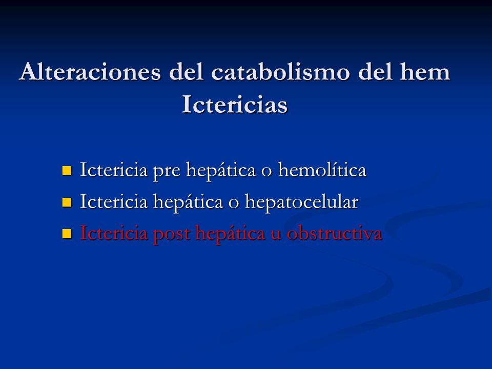 Alteraciones del catabolismo del hem Ictericias
