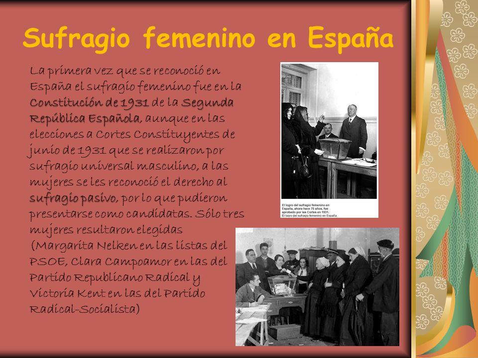 Sufragio femenino en España