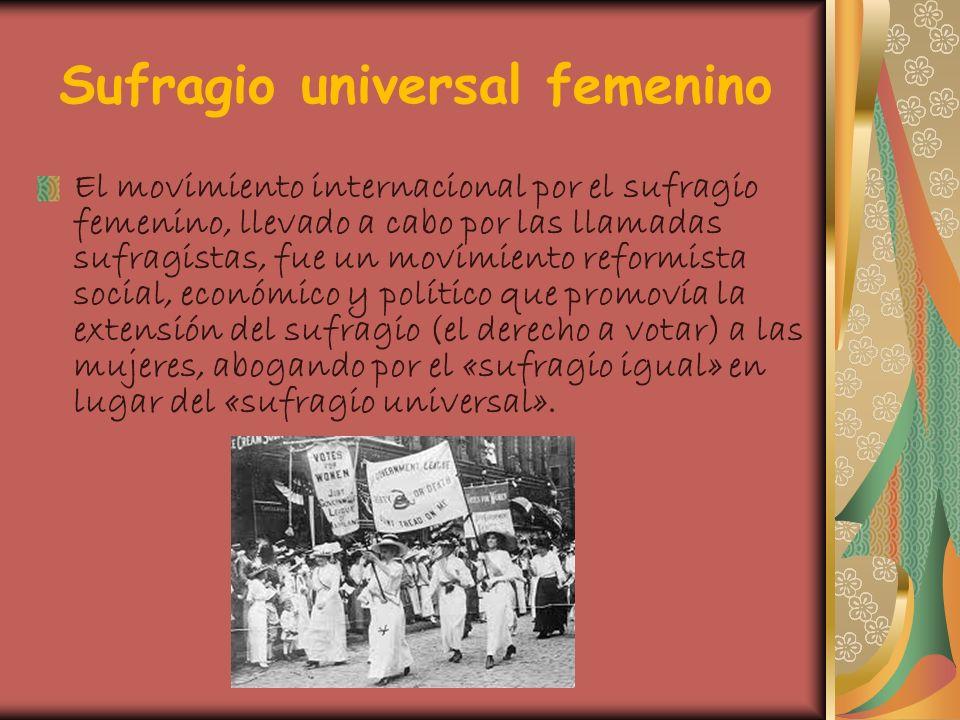 Sufragio universal femenino