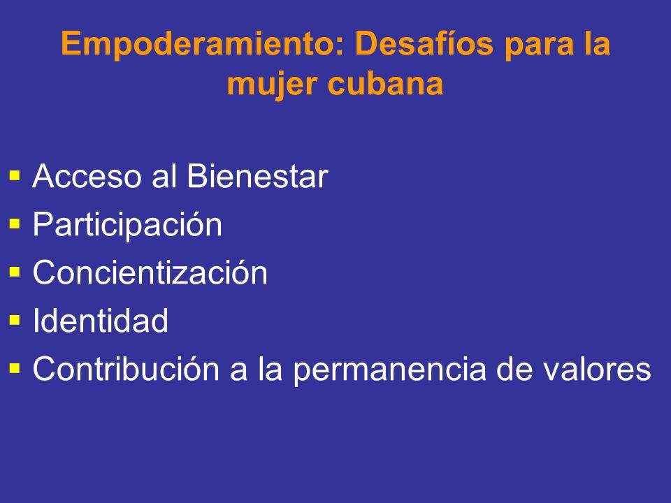 Empoderamiento: Desafíos para la mujer cubana