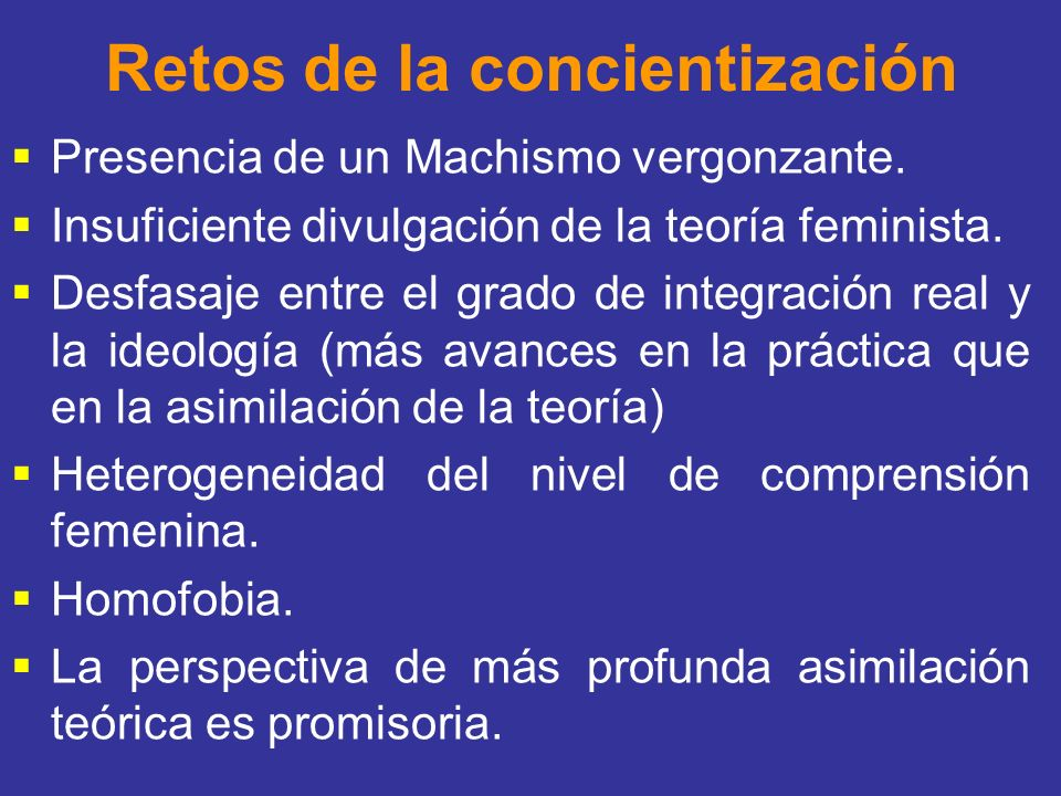 Retos de la concientización