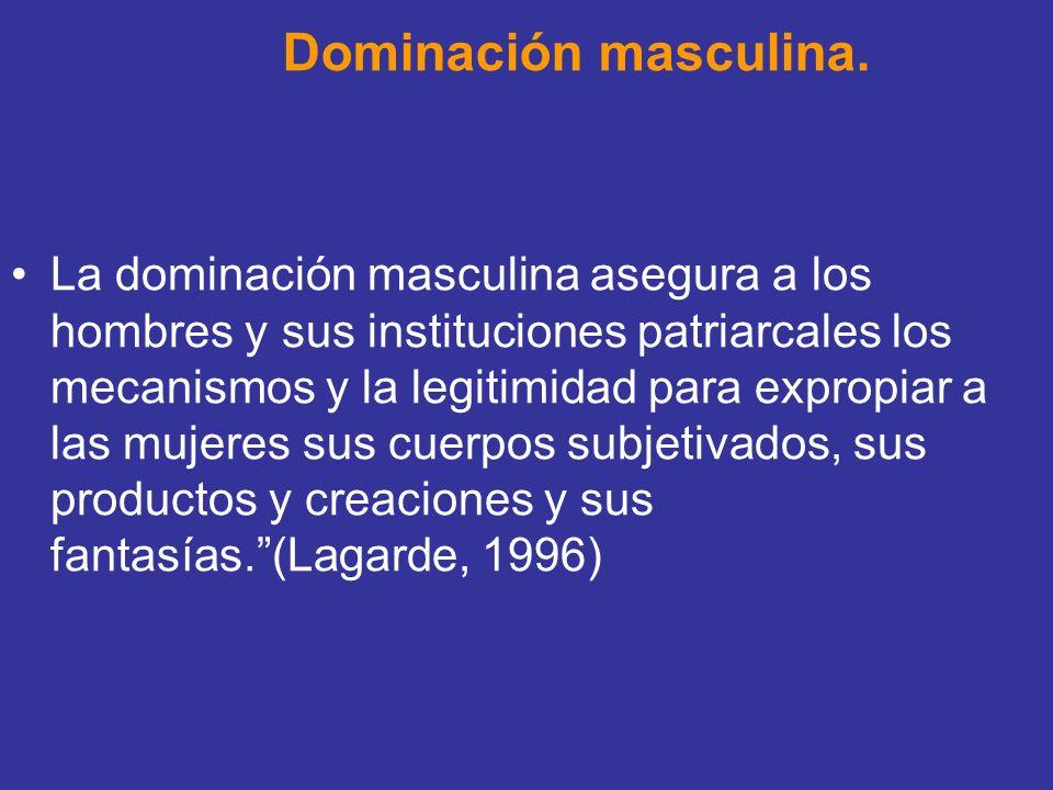 Dominación masculina.