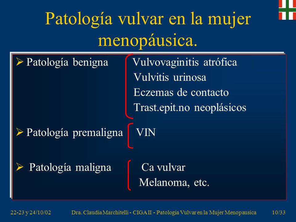 Patología vulvar en la mujer menopáusica.