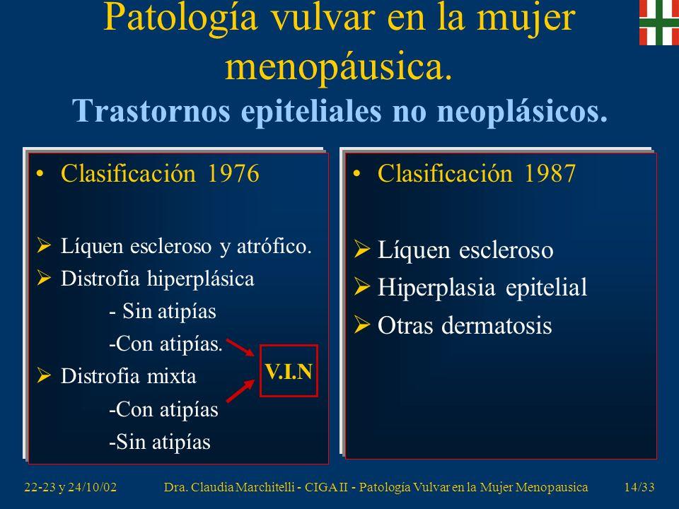 Patología vulvar en la mujer menopáusica