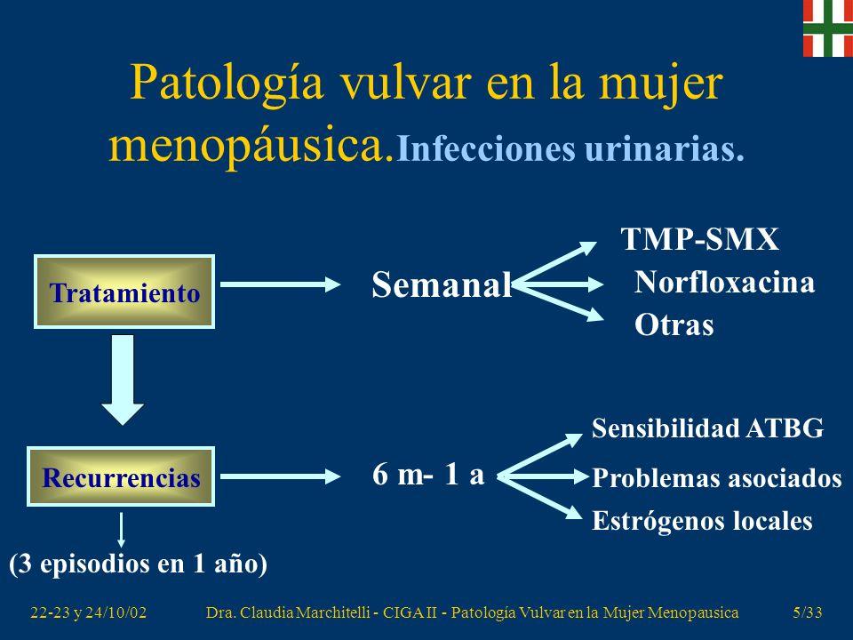 Patología vulvar en la mujer menopáusica.Infecciones urinarias.