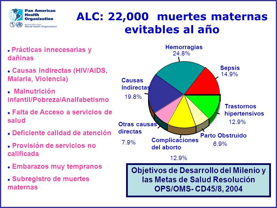 ALC: 22,000 muertes maternas evitables al año