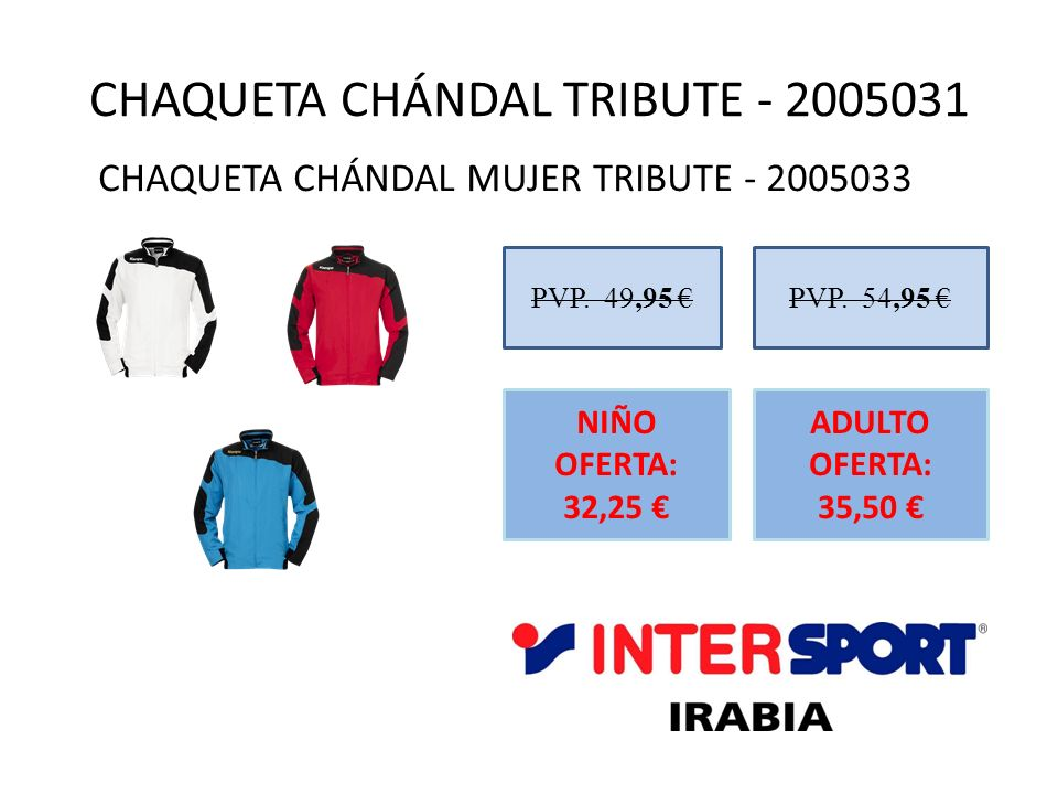 CHAQUETA CHÁNDAL TRIBUTE - 2005031