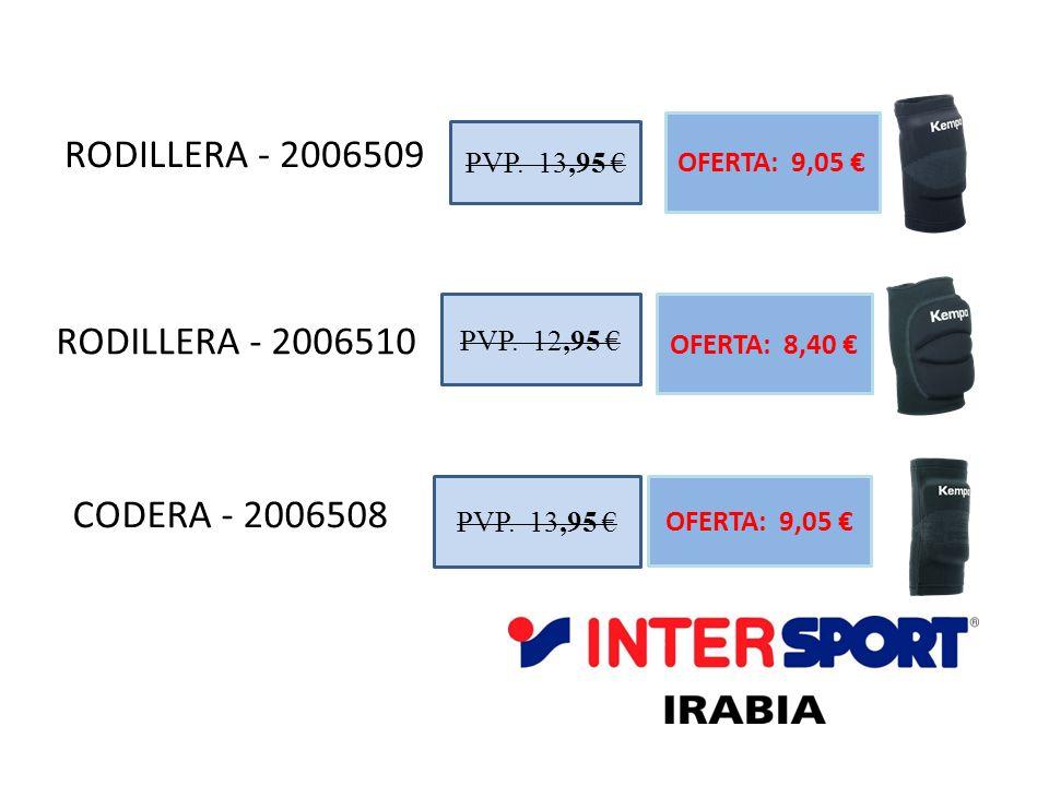 RODILLERA - 2006509 RODILLERA - 2006510 CODERA - 2006508