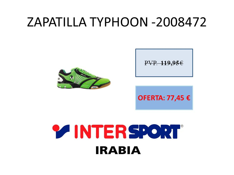 ZAPATILLA TYPHOON -2008472 PVP. 119,95 € OFERTA: 77,45 €