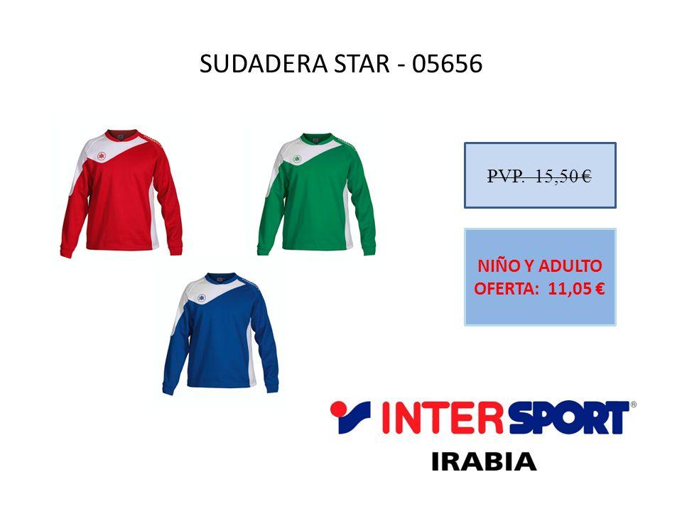 SUDADERA STAR - 05656 PVP. 15,50 € NIÑO Y ADULTO OFERTA: 11,05 €