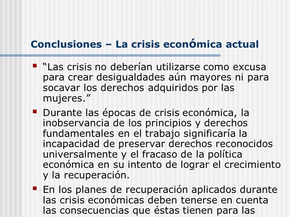 Conclusiones – La crisis económica actual