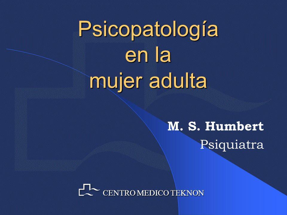 Psicopatología en la mujer adulta