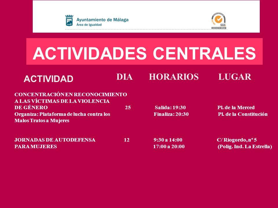 ACTIVIDADES CENTRALES