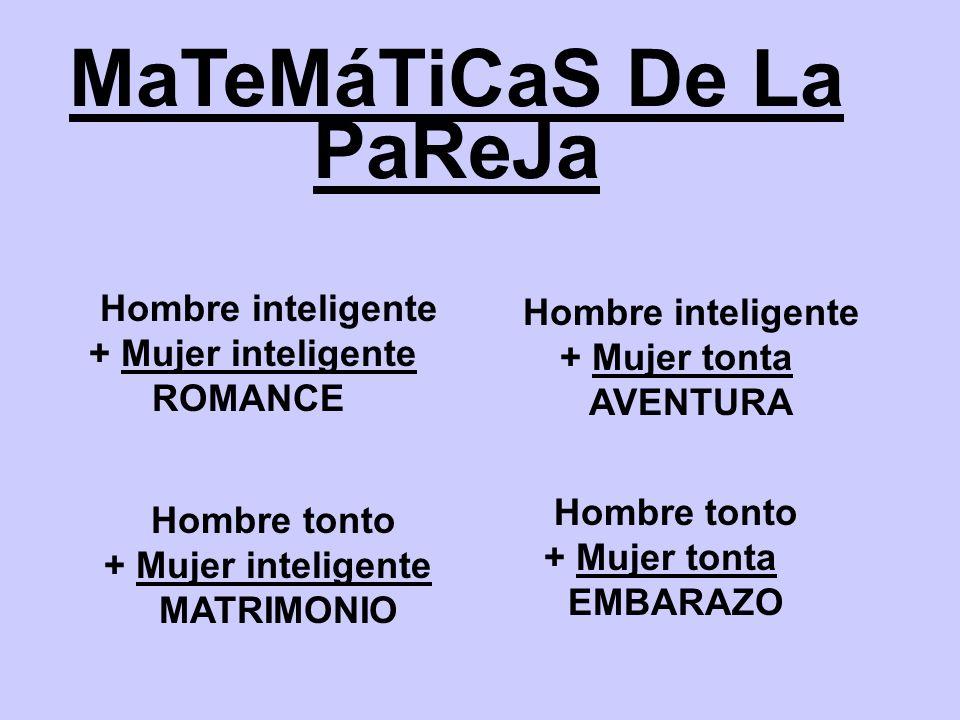 MaTeMáTiCaS De La PaReJa
