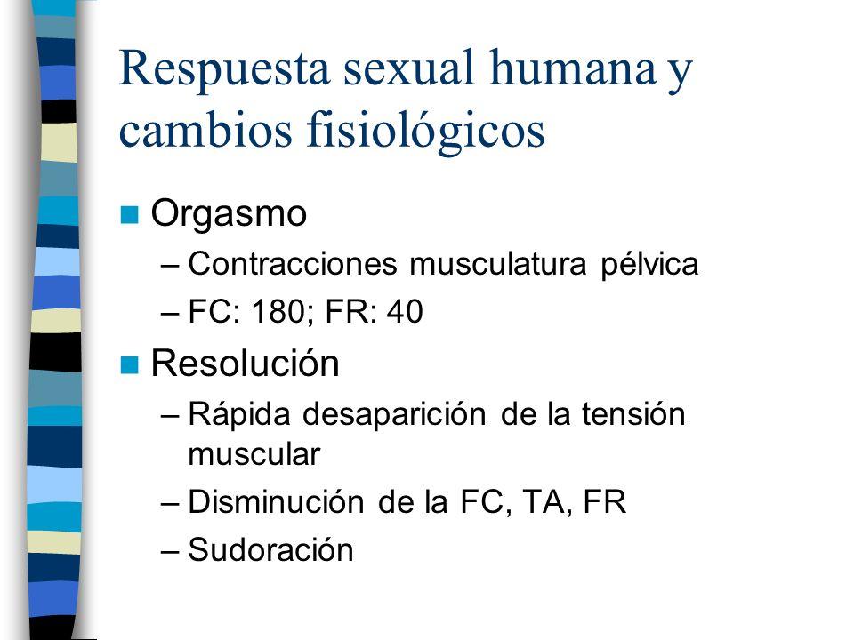 Respuesta sexual humana y cambios fisiológicos